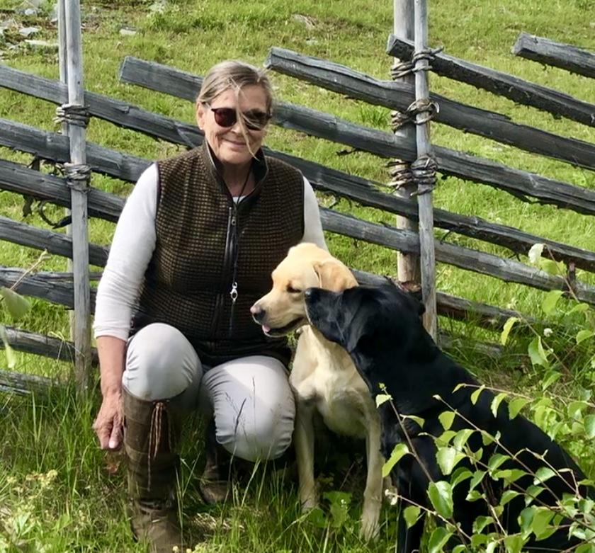 Jaktvest med hundene